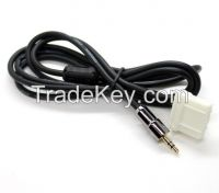 Anti-jamming Aux Cable Audio Cable Adapter 3.5MM Gold Plate