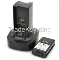 Dual Remote Controller Charger w/ Battery for XBOX360 Wireless Joystic