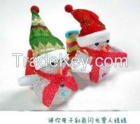 Christmas snowman luminous  doll Colorful glare