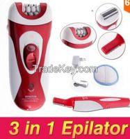 Electric 3 in 1 Ladys Women Multifunction Epilator Depilation Recharge