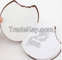 Biscuit shape promotional gift chocolate color Custom logo memo pad(LH