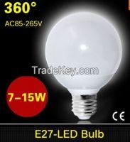360 degree SMD 5730 E27 7W 9W 12W 15W LED Ball Bulb