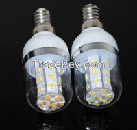 E14 2835 27LEDs 6W Vailable SMD2835 LED Chips AC85V-265V Led Corn bulb