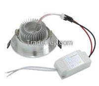 9W LED Ceiling lamp Downlight with Power Driver AC85V 110V 265V