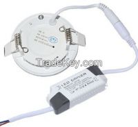 Ultra Thin 3W Recessed LED Panel Downlight AC 85V-265V LED Ceiling