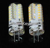 5W G4 3014 SMD 48LEDs Crystal Chandelier DC 12V Silicone LED bulbs
