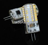 Silicone LED lamps G4 6W 3014 SMD 64LEDs Crystal Chandeliers LED Bulb