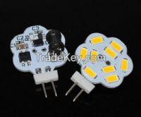 AC / DC 12V 5730 SMD G4 LED Crystal lamp 3W 4W Chandelier Flower bulb