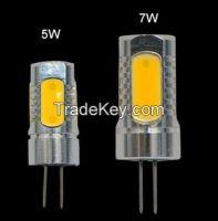 COB G4 5W 7W LED lamp Crystal Chandelier DC 12V, 5LEDs
