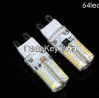 Mini G9 6W 9W LED lamp 3014 SMD AC 200V 240V Sillcone body LED Corn Bu