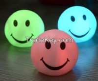 Smile Face LED night light lamp, 7 colors changing Smiling nightlight