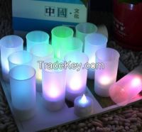 Romantic Blow On / Off Flameless LED Electronic Candle Night light