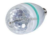 RGB Full Color E27 3W AC 110V 220V LED Bulb Crystal Auto Rotating
