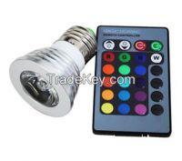 RGB LED lamps 16 Color Change bulb E27 4W Spotlight