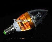 E14 3W 3LED 330Lumens Golden Bubble tip LED Candle lamps