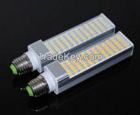 AC 85V 110V 220V 265V 15W E27 5050 60 LEDs Horizontal Plug lamp