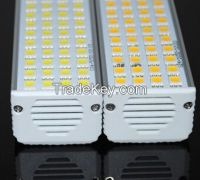 Horizontal Plug light LED lamp 12W G24 52LEDs Aluminum Casting Body