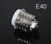 E40 to E27 Base LED Halogen Light Lamp Bulbs Socket Adapter Converter