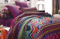 100% cotton sateen reactive printed fabric, home textile fabric for bedding set
