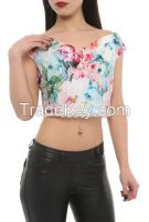 women blouses and tops with flower print in Turkey