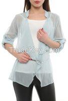 women chiffon long sleeve blouses shirts tunics made in Turkey