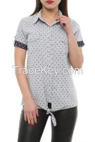 women casual shirts with short sleeve