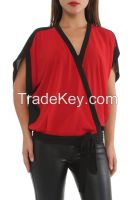 last trend fashionable women blouses and shirts in Turkey