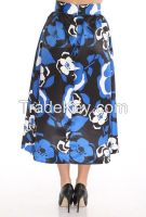 midi lenght women skirts with flower print