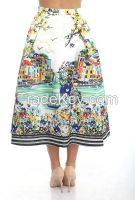 women midi skirts with prints for sprimg and summer 2016
