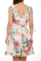 wholesale cocktail dresses with flower prints summer 2016 made in Turkey