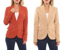 women elegant long sleeve blazers and jackets in different colors for autumn and winter 2016