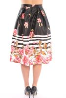 Wholesale A-Line Flower Print Women Skirts