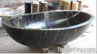 Nero Marquina marble bathtub