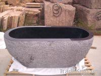 G684 black pearl granite bathtub for sale