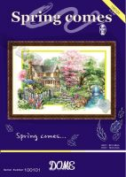 hand made cross stitch scenery