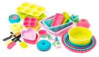 Pastel Heart Silicone Cake Moulds