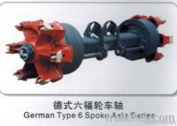 18 ton German six spoke  Axles
