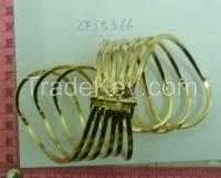 Golden bracelets-spiral