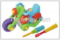 Plastic removable toy motor