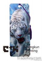 3D lenticular PET bookmark with hot designbeautifil girl charming