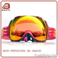 2014 Fashion Double PC lens ski goggles newest style snow goggles