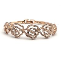 2014Fashion Diamond and Alloy Rose Bracelet women Popular Jewelry and Accesories