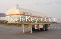 Aluminum flammable liquid transport semi-trailer