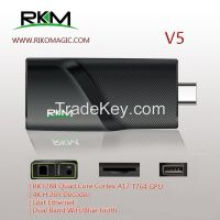 RK3288 Quad Core 4K android MINI PC V5, support Gigabit LAN, 4KX2K, H.265 decoding