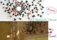 H-001 Gossip Girl Colourful 3D Butterfly Wall Sticker