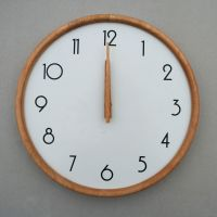 DM-21 White Wooden Wall Clock Wooden Wall Clock