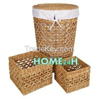 Vietnam crafts New product Water Hyacinth Laundry Baskets, Hamper set of 3