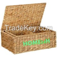 New product Water Hyacinth Storage Boxes, Small Trunks s/3
