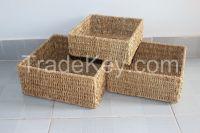 Best selling Vietnam crafts Seagrass Storage Baskets Laundry Hampers