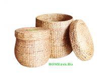 New product Vietnam crafts Water Hyacinth Storage Basket Laundry Hamper